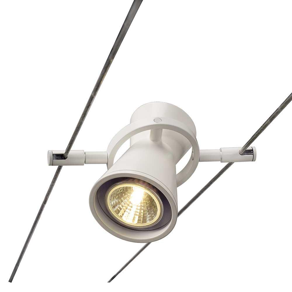 Spot blanc pour c ble tendu lampe avenue - Spot cable tendu ...