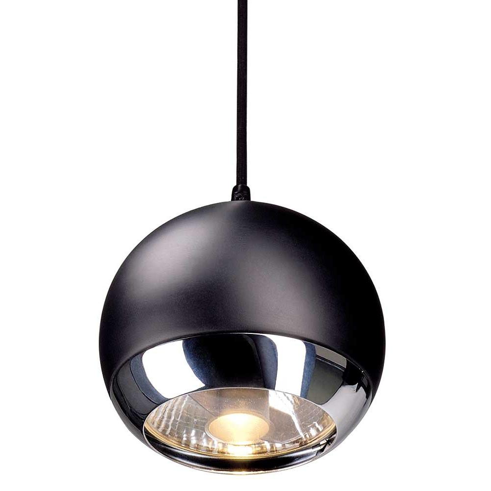 Suspension boule noire pour syst me de rail for Lampe suspension noire