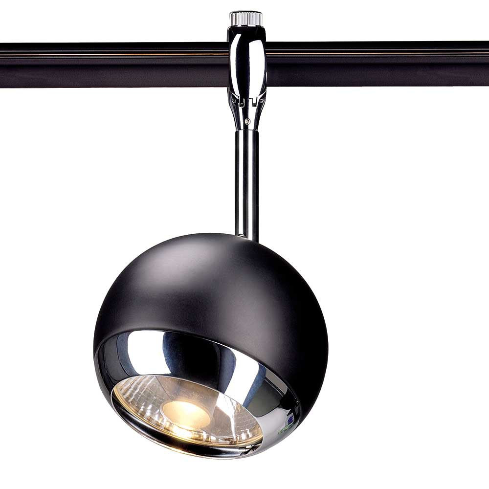 spot boule noire pour syst me de rail. Black Bedroom Furniture Sets. Home Design Ideas