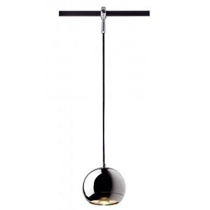 Suspension boule chromée pour rail