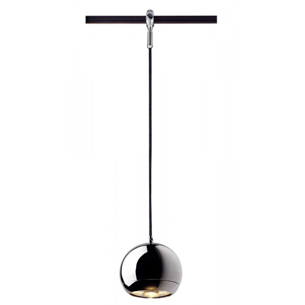 suspension boule chrom e pour rail lampe avenue. Black Bedroom Furniture Sets. Home Design Ideas
