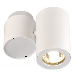 Plafonnier design blanc orientable