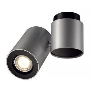 Plafonnier design gris orientable