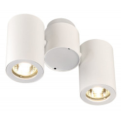 Plafonnier design blanc 2 spots
