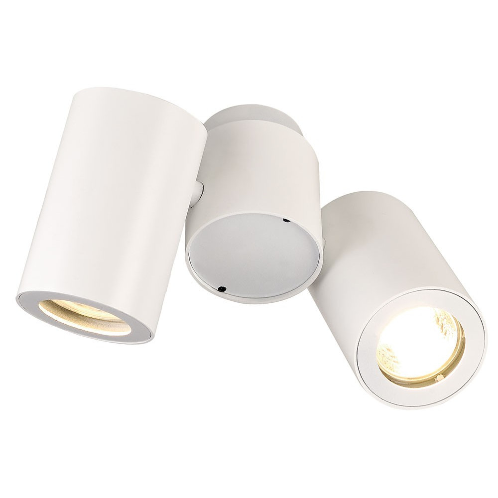 plafonnier design blanc 2 spots lampe avenue. Black Bedroom Furniture Sets. Home Design Ideas
