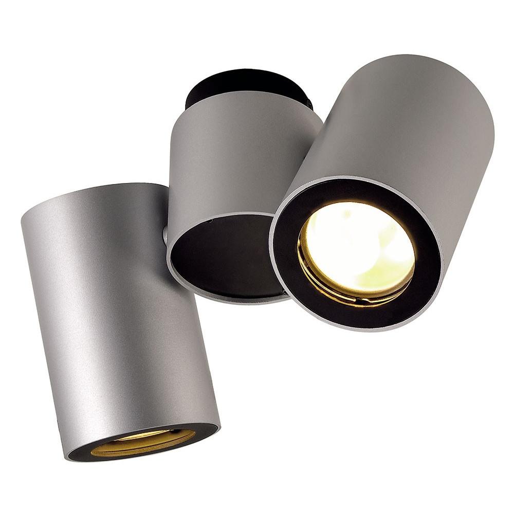Plafonnier design gris 2 spots - Lampe Avenue ba6e7d7c1a2