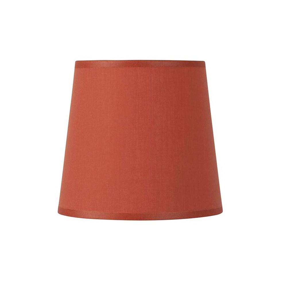 abat jour conique orange base ronde pas cher sur lampe. Black Bedroom Furniture Sets. Home Design Ideas