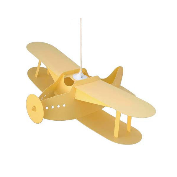 Suspension avion jaune