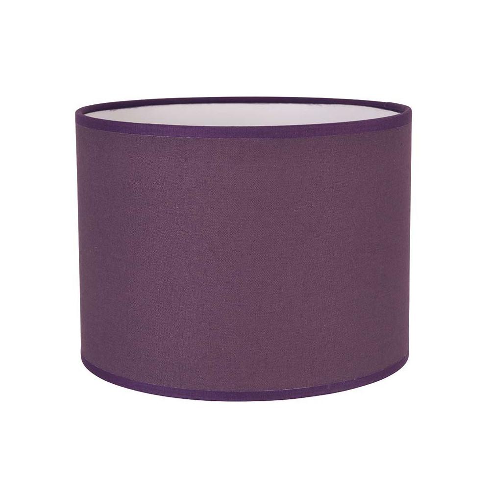 abat jour cylindre en coton couleur figue achat sur lampe. Black Bedroom Furniture Sets. Home Design Ideas