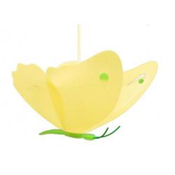 Suspension papillon jaune et vert
