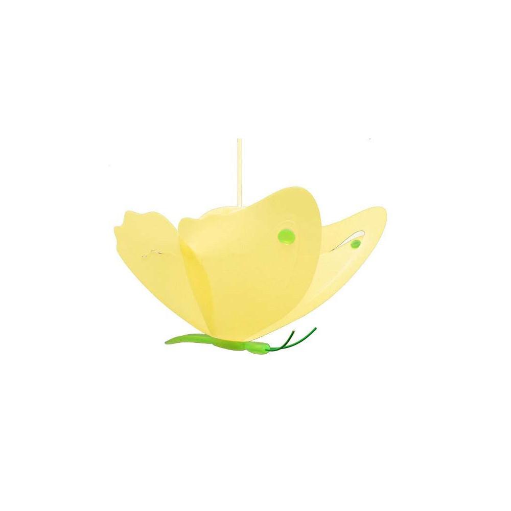 suspension papillon jaune et vert pour enfant vente sur lampe avenue. Black Bedroom Furniture Sets. Home Design Ideas