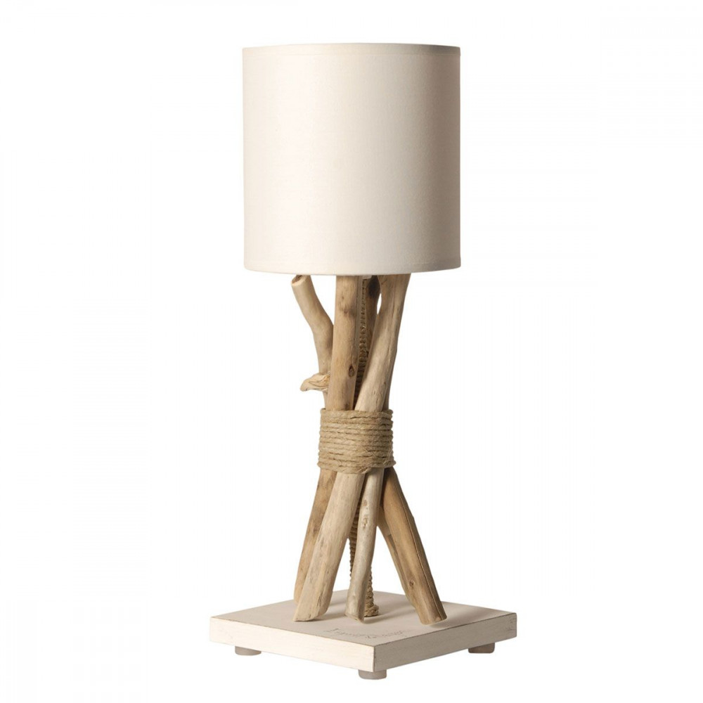Lampe de chevet bois table de lit for Lampe de chevet tactile enfant