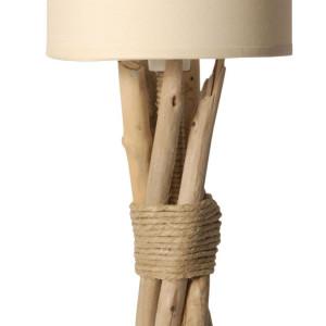 belle lampe en bois flotté