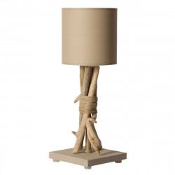 Lampe à poser taupe bois flotté