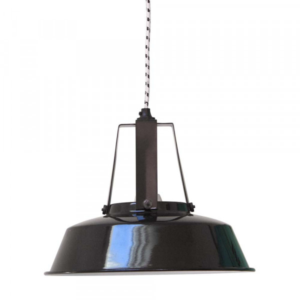 Suspension industrielle noire lampe avenue - Lampe suspension industrielle ...