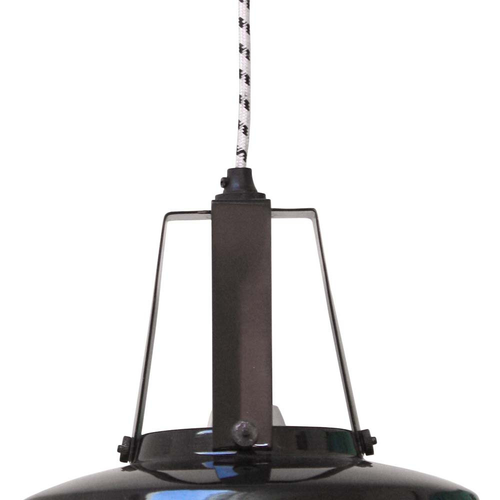 Suspension industrielle noire lampe avenue - Suspension industrielle noire ...