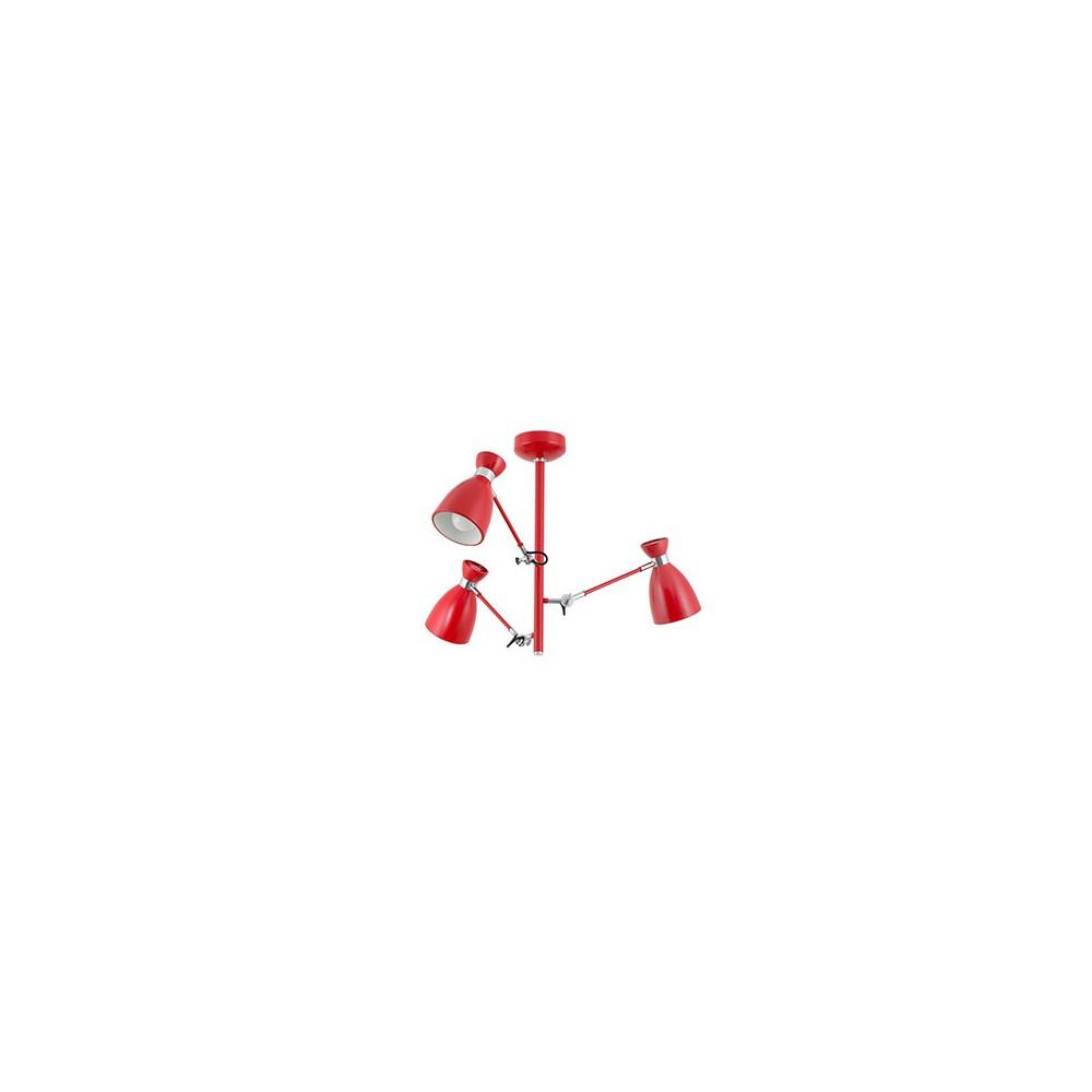 Plafonnier bras articulés rouge en métal Lampe Avenue