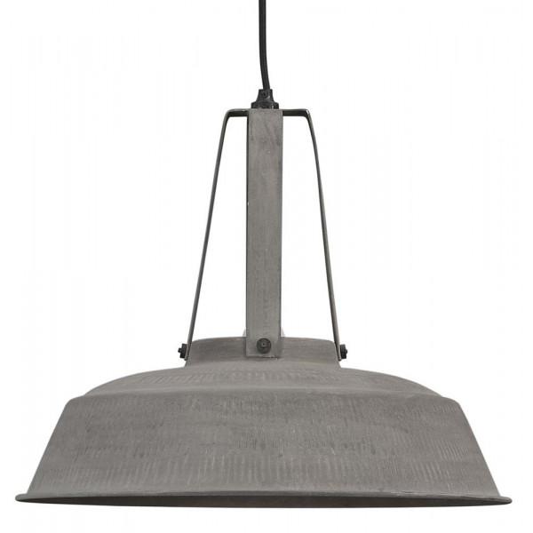 grande suspension industrielle m tal effet b ton lampe. Black Bedroom Furniture Sets. Home Design Ideas