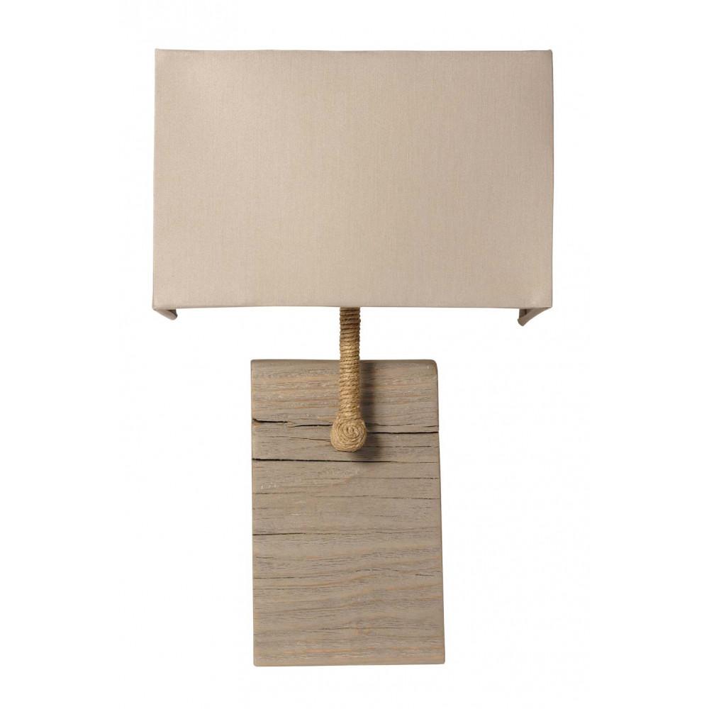 applique bois vieilli et cordage abat jour gris en vente sur lampe avenue. Black Bedroom Furniture Sets. Home Design Ideas