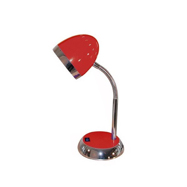 Lampe de bureau rouge flexible enfant for Lampe de bureau enfant