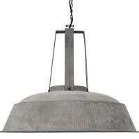grande suspension industrielle m tal effet b ton lampe avenue. Black Bedroom Furniture Sets. Home Design Ideas