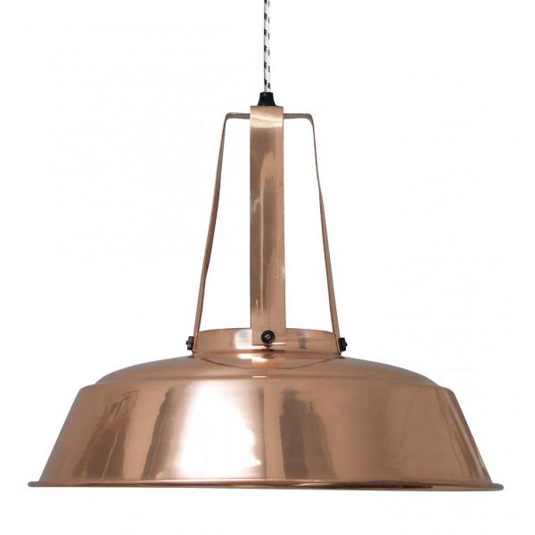 Grande suspension industrielle en cuivre lampe avenue - Suspension luminaire en cuivre ...