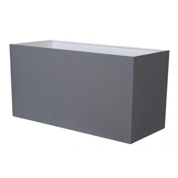 abat jour rectangulaire gris ardoise en coton. Black Bedroom Furniture Sets. Home Design Ideas