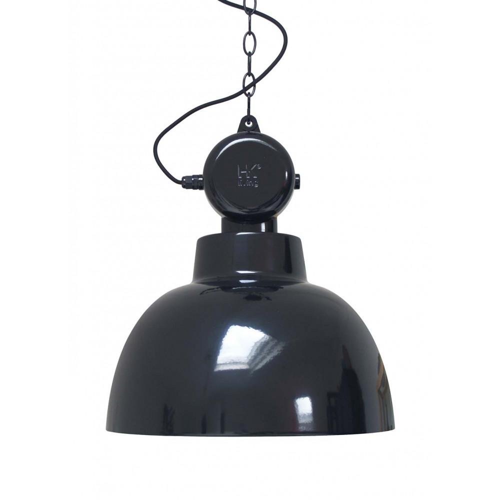 suspension noire design industriel lampe avenue. Black Bedroom Furniture Sets. Home Design Ideas