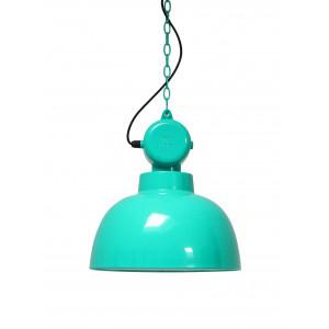 Suspension bleu turquoise design industriel