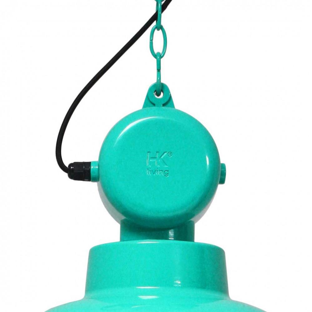 suspension bleu turquoise design industriel en vente sur lampe avenue. Black Bedroom Furniture Sets. Home Design Ideas