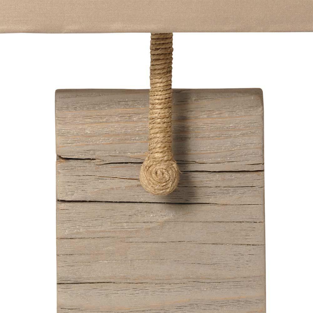 applique murale en bois vieilli avec abat jour taupe sur. Black Bedroom Furniture Sets. Home Design Ideas