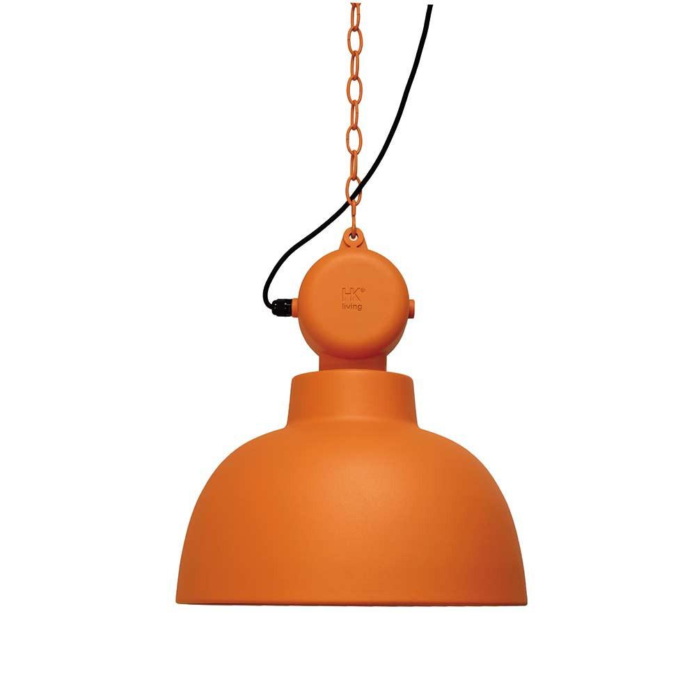 suspension orange design industriel lampe avenue. Black Bedroom Furniture Sets. Home Design Ideas
