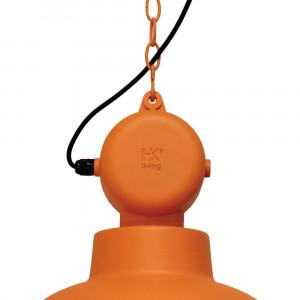 Suspension orange mat design industriel