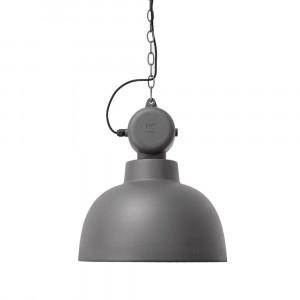 suspension gris mat design industriel en vente sur lampe. Black Bedroom Furniture Sets. Home Design Ideas