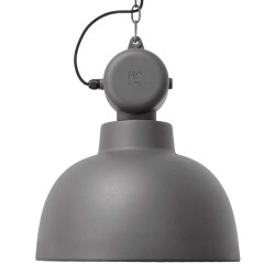 Grande suspension gris mat design industriel