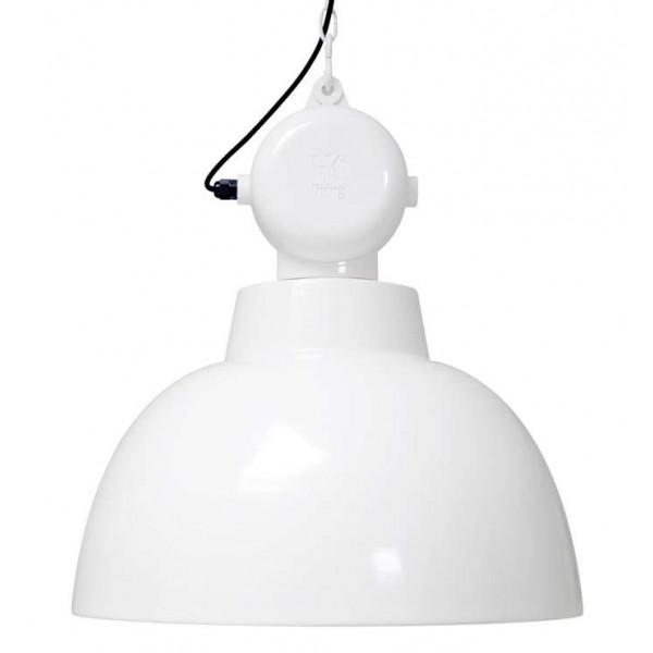 grande suspension blanche design industriel de 50cm lampe avenue. Black Bedroom Furniture Sets. Home Design Ideas