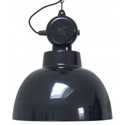 Grande suspension noire design industriel