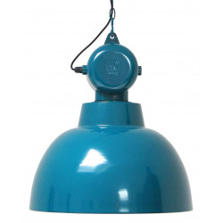 Grande suspension bleue design industriel