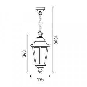 Lanterne classique exterieur noire