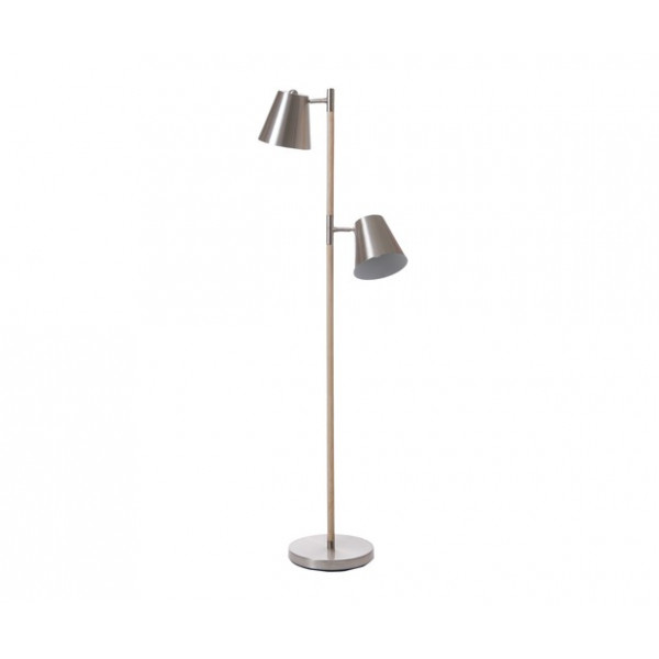 Lampadaire métal et bois