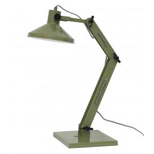 Lampe de bureau verte design industriel