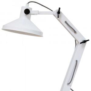 Lampe de bureau blanche vintage