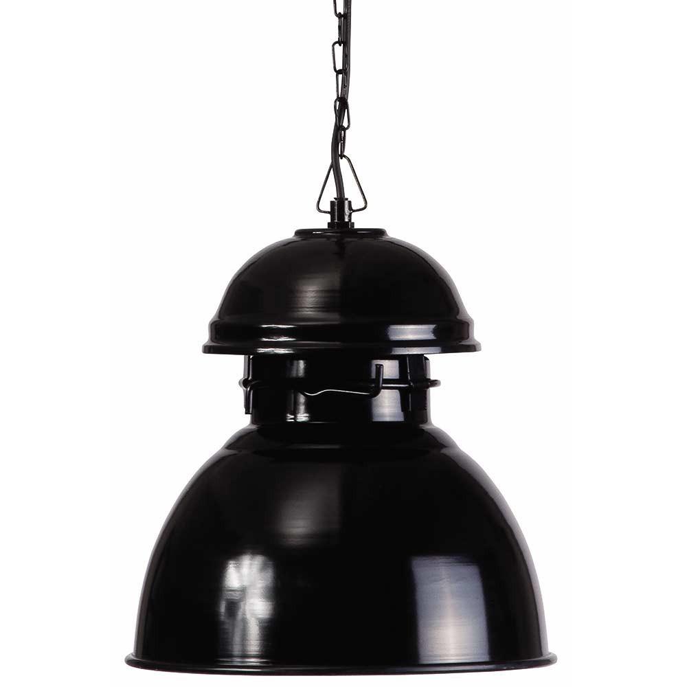 Suspension vintage noire en m tal un luminaire hk living for Luminaire exterieur retro