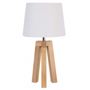 Lampe trépied scandinave blanche
