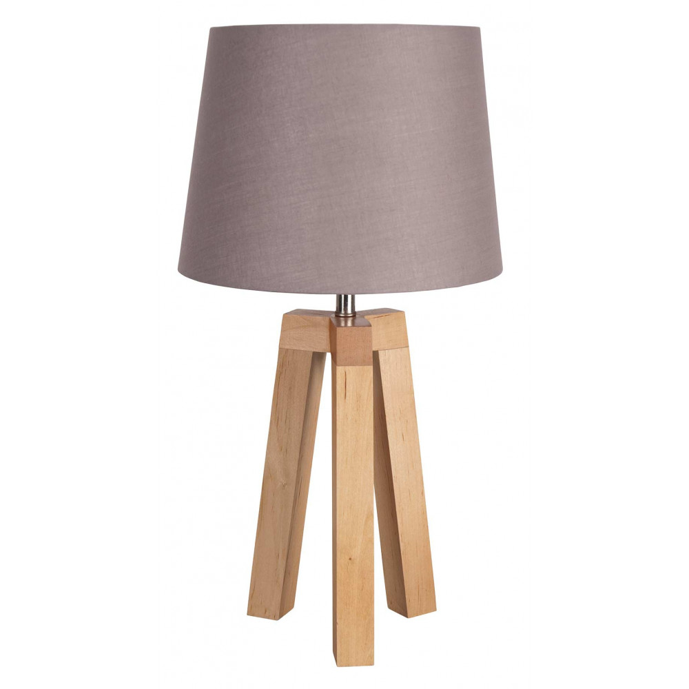 Lampe scandinave taupe for Lampes de chevet bois