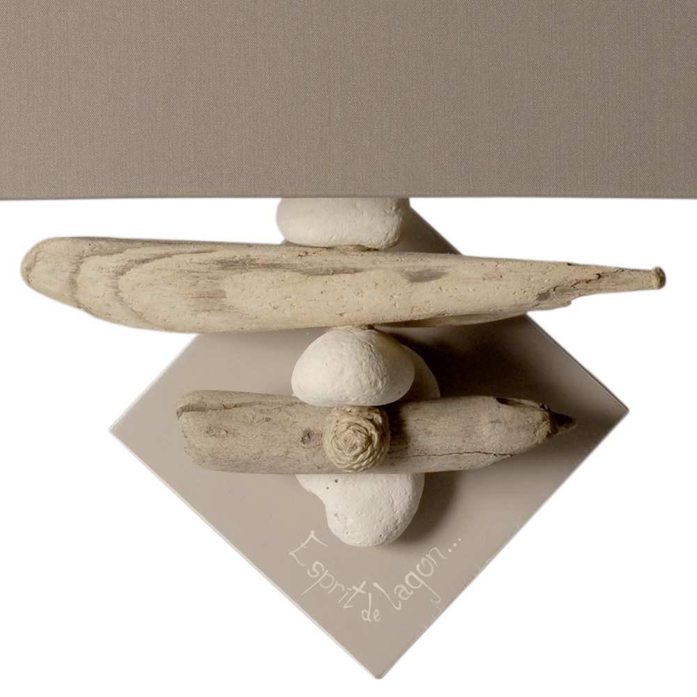 applique bois flott et galet l gante. Black Bedroom Furniture Sets. Home Design Ideas