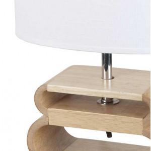 Lampe nordique bois lin blanc