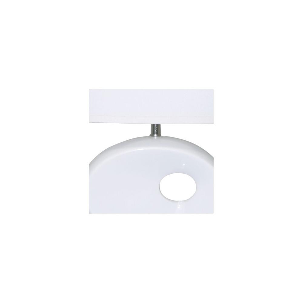 lampe c ramique blanche avec abat jour en vente sur lampe. Black Bedroom Furniture Sets. Home Design Ideas