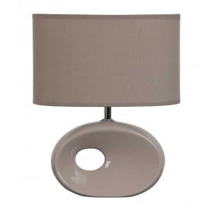 Lampe céramique beige