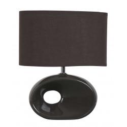 Lampe céramique chocolat